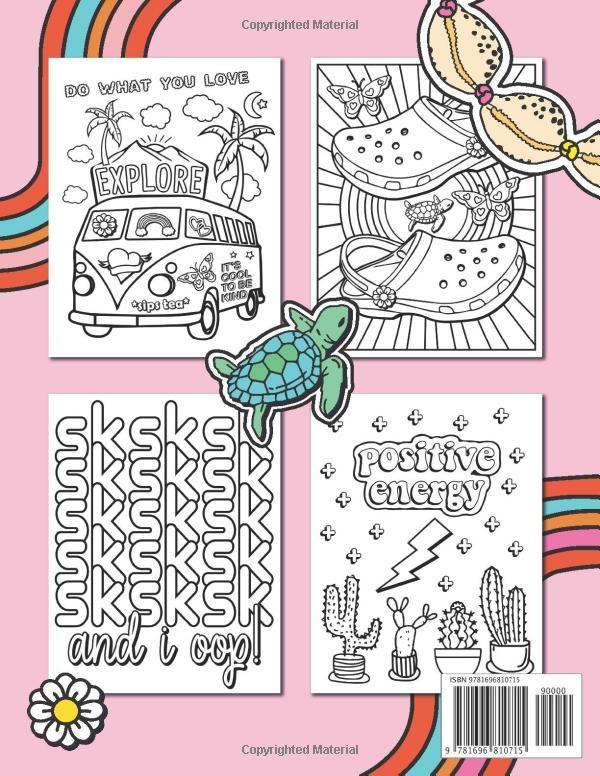 Amazon.com: VSCO Girl Coloring Book: For Trendy, Confident ...