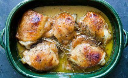 Μπουτάκια κοτόπουλου με μουστάρδα και μέλι