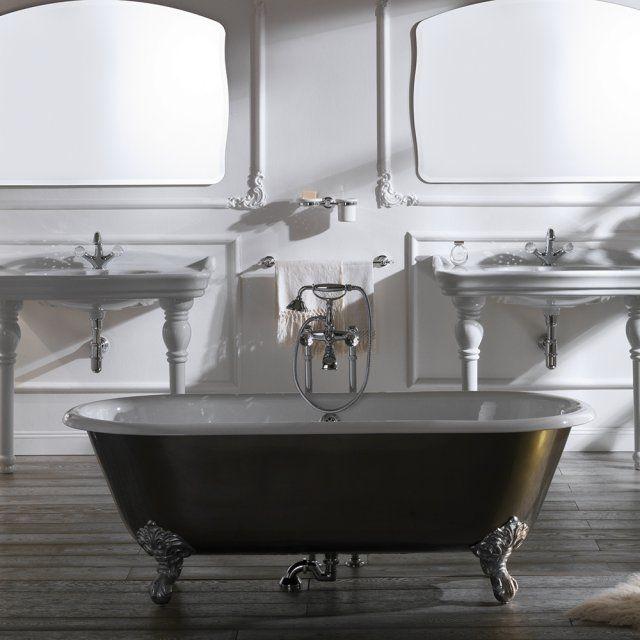 Salle de bain avec baignoire sur pied for Salle de bain belle epoque