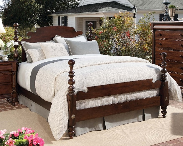 Homecoming Vintage Maple Queen Cannonball Bed At North Carolina Furniture Best S