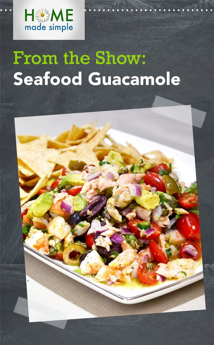 Packed with protein, Chef Martita Jara mixes up some seafood guacamole in this easy recipe. Avocado, tomato, shrimp and salmon make this seafood guacamole an easy side dish that's sure to please.