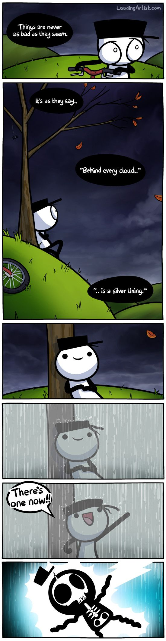 Things are never as bad as they seem.. click to view the full comic!