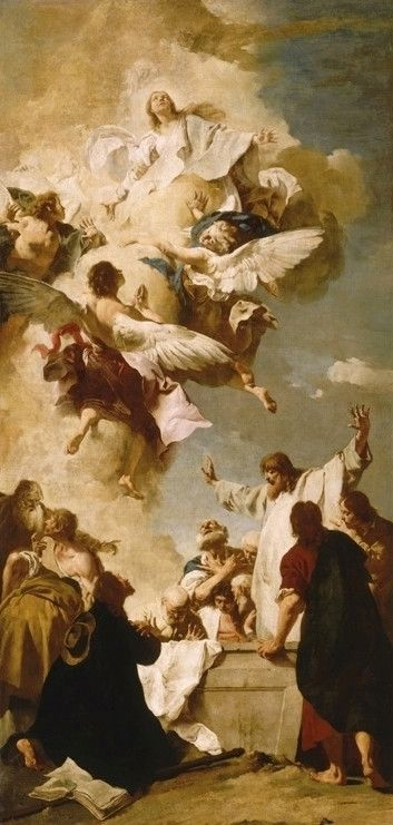 """聖母被昇天"""" 1735年 ジャンバティスタ・ピアッツェッタ"""