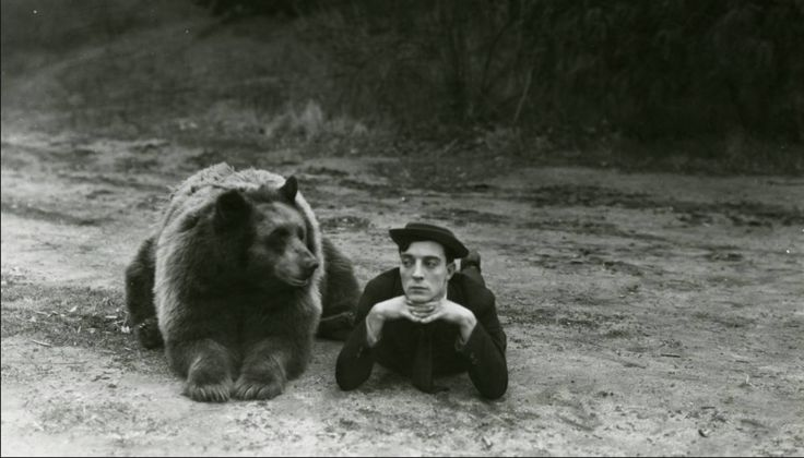 Buster Keaton and a bear