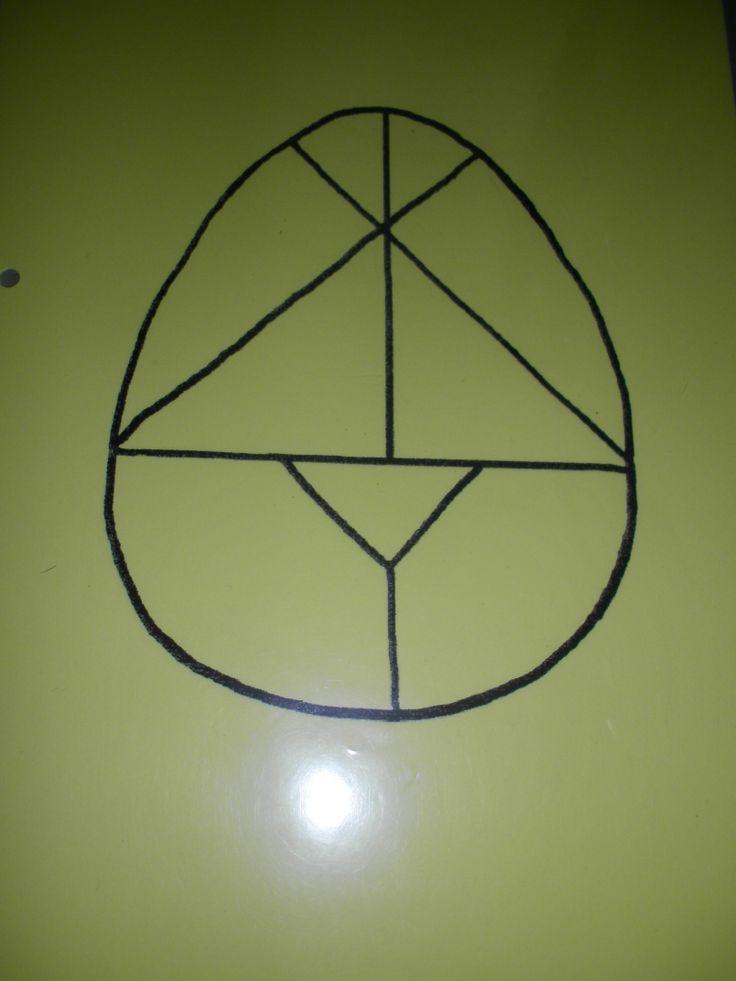 Ei - tangram (zie verder voor de mogelijkheden)