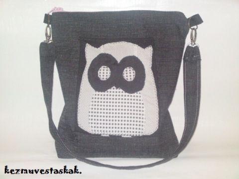 Fekete baglyos táska, caterinetta, meska.hu