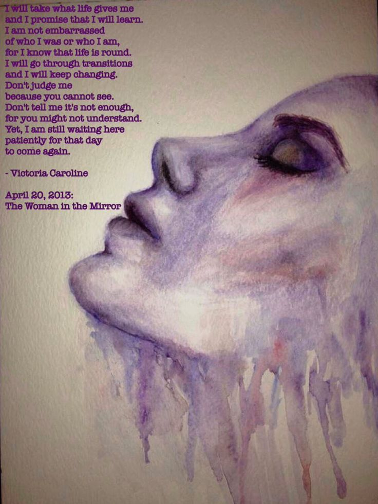 """The Woman in the Mirror. Interesting """"No Name"""" by ig: @amberwicksartwork . #poets #deadpoetsociety #thewomaninthemirror #victoriacaroline #amberwicksartwork #poem #poetry"""