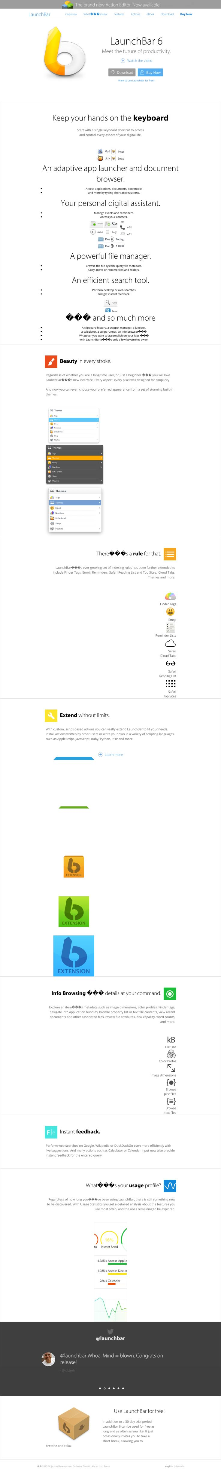 clean product icons homepage software