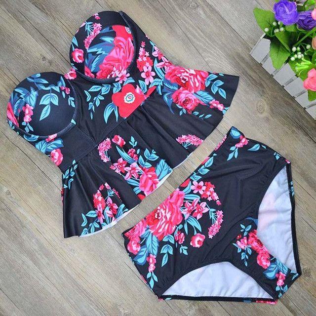 High Waist Peplum Swimsuit