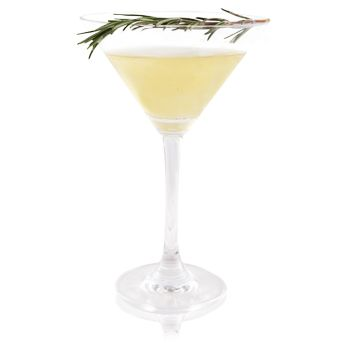 Rosemary Holiday Cup | Patrón Tequila Patrón Añejo, absinthe, rosemary, cloves, vanilla green chili-infused simple syrup
