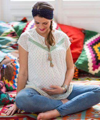 maternity wear mara mea, Umstandsbluse lama glama von mara mea