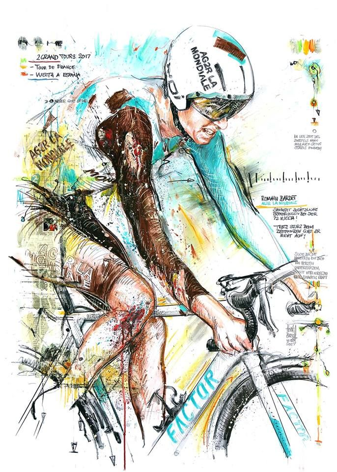 Romain Bardet 2 Grand Tours TDF, Vuelta 2017 by Horst Brozy