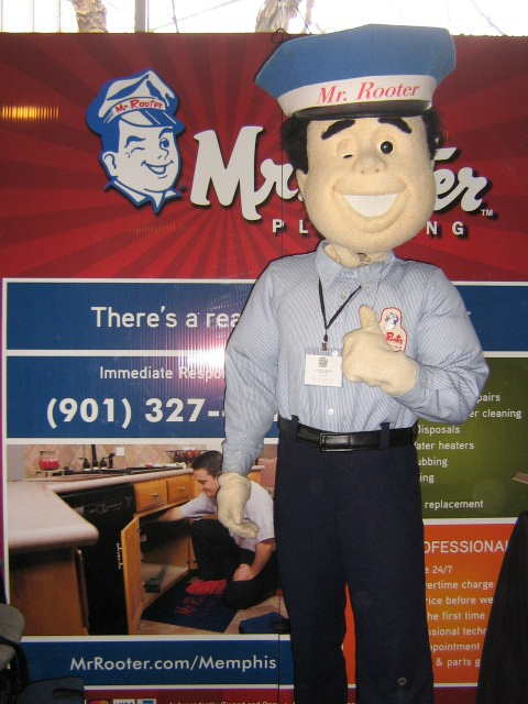 Mr. Rooter mascot from our Memphis location!