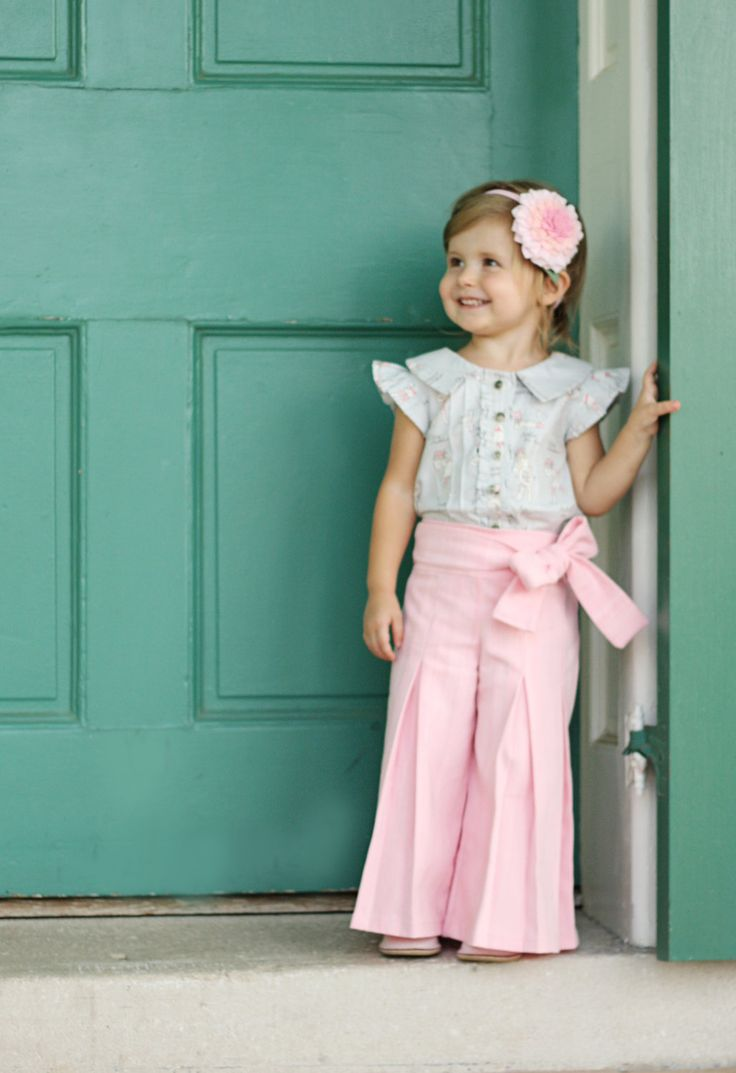 Whitney Trousers & Skirt PDF Pattern and Tutorial, All sizes 2- 10 years included. $10.95, via Etsy.