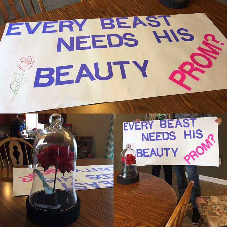 My daughter's sweet boyfriend asked her to prom this afternoon and then took her to see beauty and the beast!! Such a cute idea! #promposal #beautyandthebeast