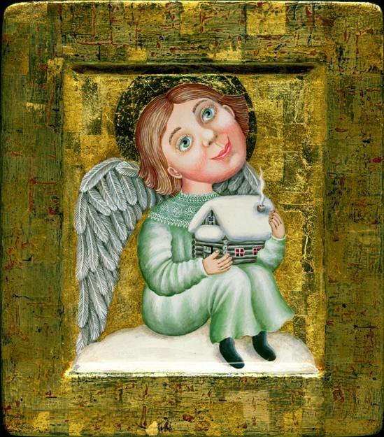 Ангел охраняющий.. Работы автора. Якушева Юлия Витальевна. Художники. Картины, картинная галерея, продажа картин