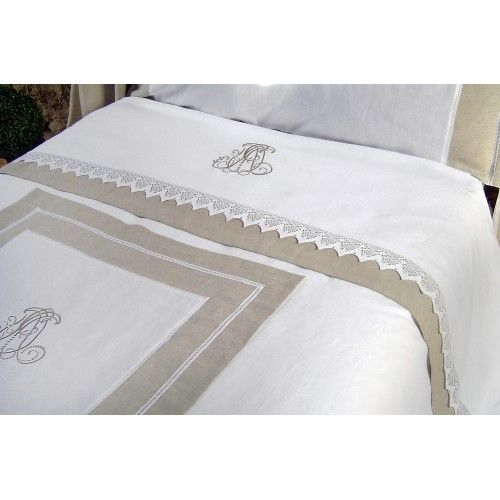 Bed linens...what a way to say welcome, in a guest bedroom.