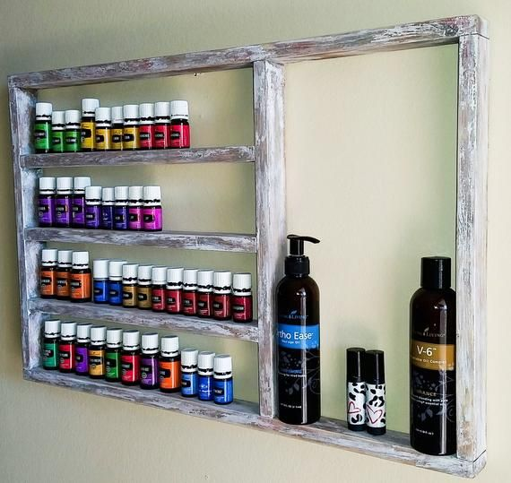 Essential Oils shelf, nail polish shelf, unique gift, Oil Shelf, Oil rack, Oil storage, hanging shelf, nail polish rack, wall decor