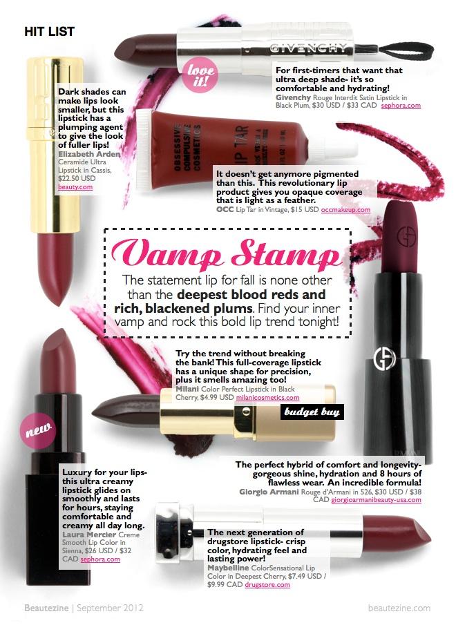 Hit List: Vamp Stamp | Beautezine