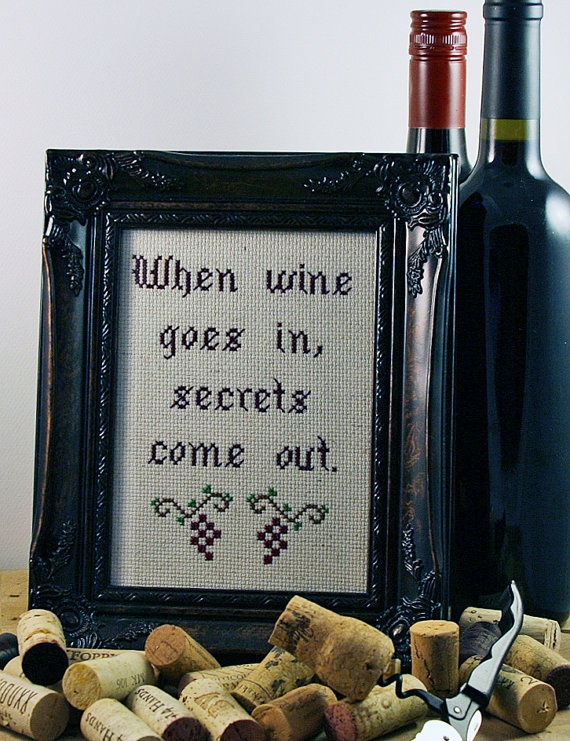 Wine.  Necessary ingredient for a Whine and Cheese party.
