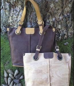 Earthy, exquisite and sophisticated cork handbags. Fashionable, eco friendly, sustainable and unique tottes made by the finest local artisans from Portugal. Vegan product.