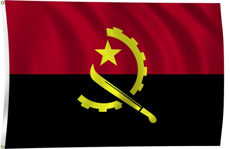 AnGOLA - Flag!! The country has vast mineral and petroleum reserves, and its economy has on average grown at a double-digit pace since the 1990s, especially since the end of the civil war.