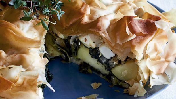 Spinattærte med feta og kartofler   Ugebladet SØNDAG