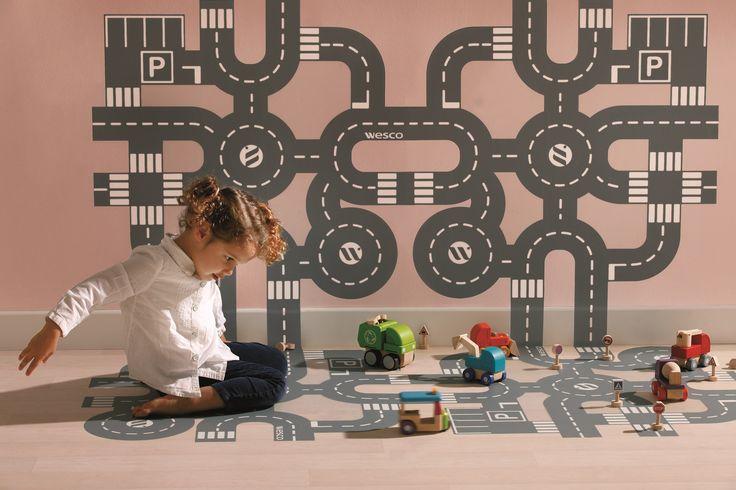 Sticker le circuit pour décorer le sol de la chambre