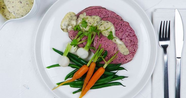 Corned beef and vegetables make a hearty week night meal. Remember to save the leftovers for sandwiches the next day!