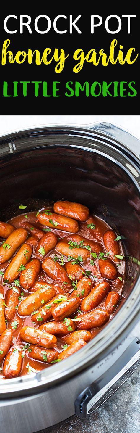 Crock Pot Honey Garlic Little Smokies - An effortless and delicious appetizer!