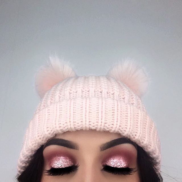 "I'm obsessing over pink, fluffy and glittery things  --- @anastasiabeverlyhills @norvina Dipbrow Pomade ""Granite"" ✨ @makeupgeekcosmetics Single Eyeshadows ""Tuscan Sun"", ""Cupcake"" & ""Bitten"" ✨ @makeupforeverofficial Star Lit Liquid ""02"" as a base on my eye lids ✨ @nyxcosmetics @nyxcosmeticsnordics Roll On Shimmer ""Salmon"" on top of the liquid ✨ @eyerisbeauty @wakeupandmakeup ""Cleopatra"" lashes ✨ #anastasiabeverlyhills #anastasiabrows #teamMUG #wakeupandmakeup"