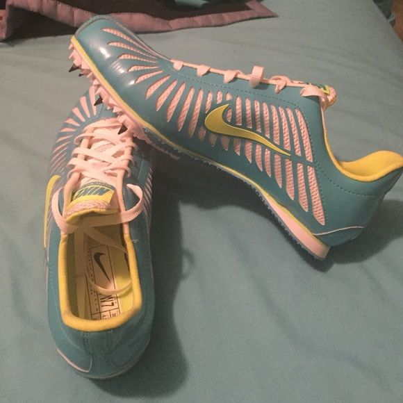 Nike track shoes size 7 Nike rival sister track and field cleat Short/mid distance, never worn, with spikes. Women size 7. Will negotiate price Nike Shoes Athletic Shoes