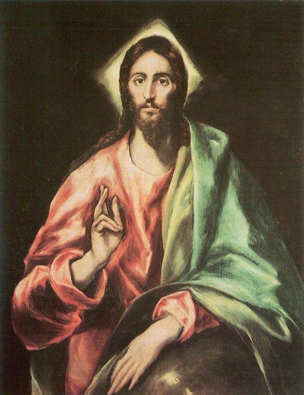 Эль Греко Христос Спаситель мира (Христос благословляющий) 1610 холст масло