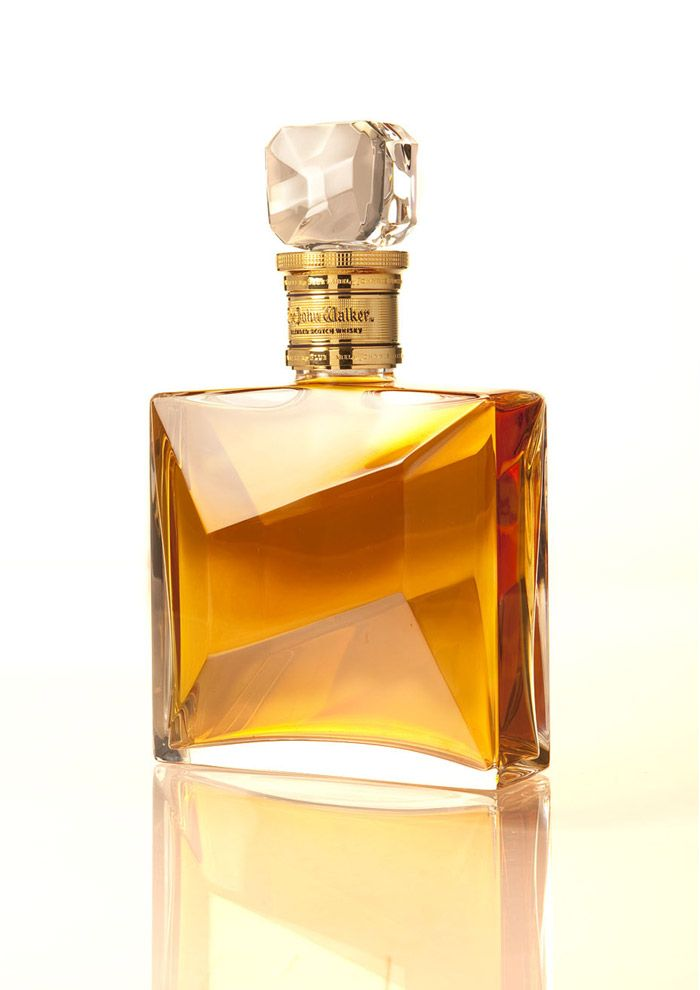 The John Walker faceted decanter via the dieline