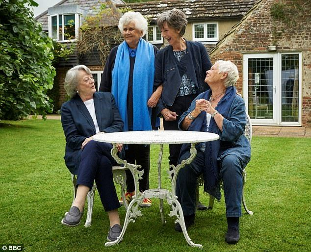 Dames (from left) Maggie Smith, Joan Plowright, Eileen Atkins and Judi Dench appear on screen together for the first time in a new BBC series about life in the limelight