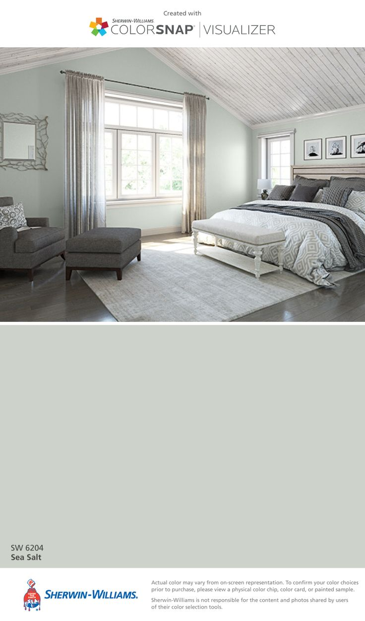 I found this color with ColorSnap® Visualizer for iPhone by Sherwin-Williams: Sea Salt (SW 6204).