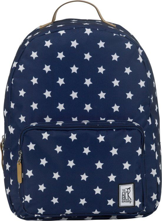 The Pack Society Print - Rugzak - 15 inch - Navy With White Stars Allover