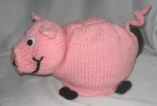 Pig Tea Cosy Knitting Pattern Download $3.94 on Etsy at http://www.etsy.com/listing/70955749/pig-tea-cosy-knitting-pattern