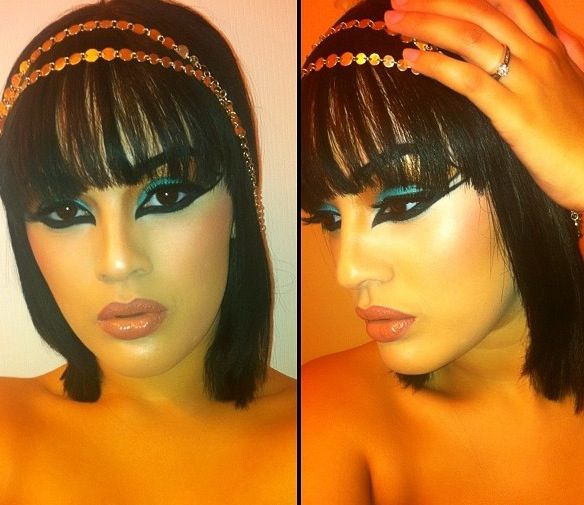 Cleopatra makeup--my Halloween 2013 look