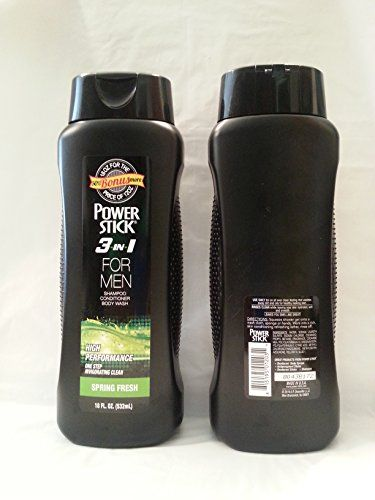 Power Stick 3 in 1 for Men Shampoo Conditioner Body Wash Spring Fresh 18 oz. 50% Bonus More (2 Pack) >>> To view further, visit http://www.amazon.com/gp/product/B00X65MPGI/?tag=passion4fashion003e-20&de=070816144316