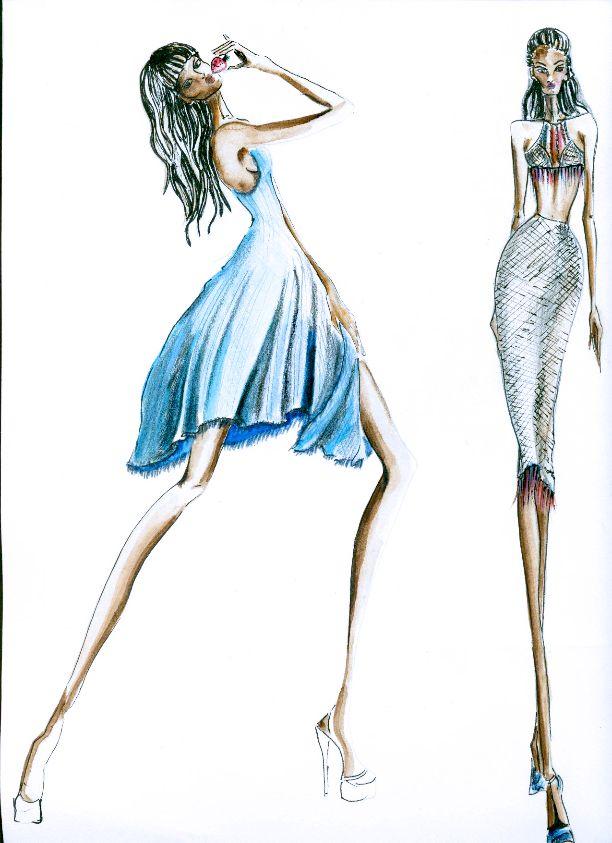 Ilustración de Moda - Asignatura: Diseño Casual - Alumno Katherine Bustos