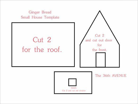 11 Gingerbread House Templates Free Pdf Document Formats