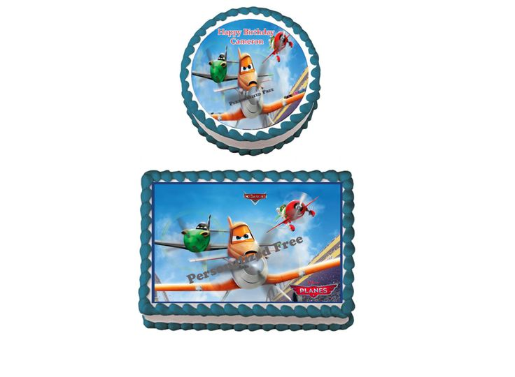 DISNEY PLANES Birthday Party Edible Image Cake Topper Cupcake Personalized Custom Made by DisneyMomTn on Etsy https://www.etsy.com/listing/249857802/disney-planes-birthday-party-edible