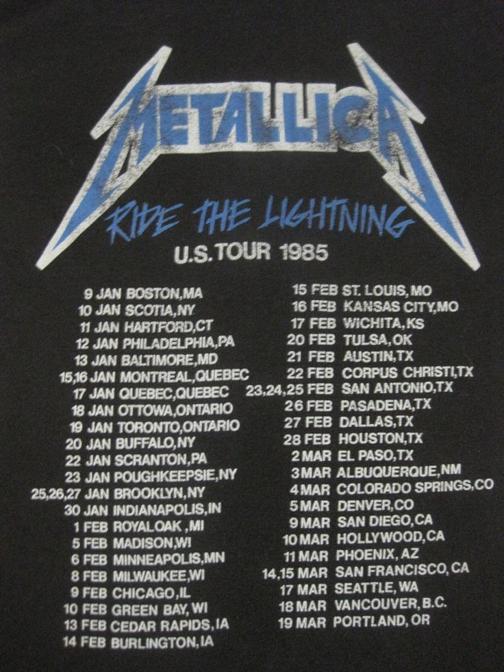METALLICA 1985 tour T SHIRT at the Aragon Ballroom! Blew me away!!!  W.A.S.P. and Armored Saint opened.