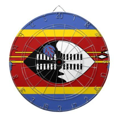 #Swaziland Flag Dart Board - #country gifts style diy gift ideas