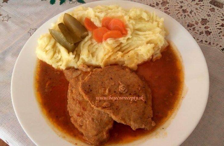 Bravčové mäso na šťave so zemiakovým pyré