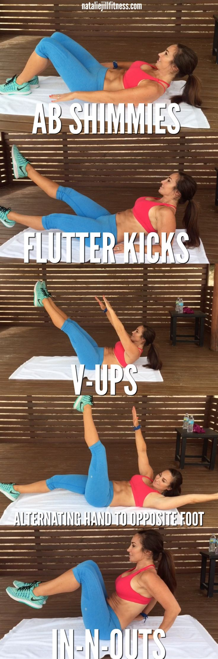 Abs today!! Rise and shine sunshines!! Mini 5 exercise AB workout for you today…