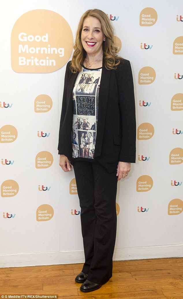 Looking fab: Phyllis looked glorious as she suited up for her Good Morning Britain appeara...
