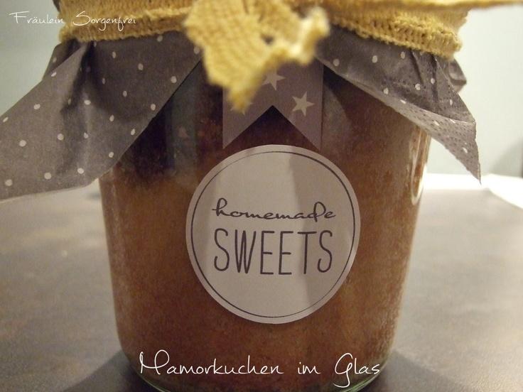 Mamorkuchen im Glas