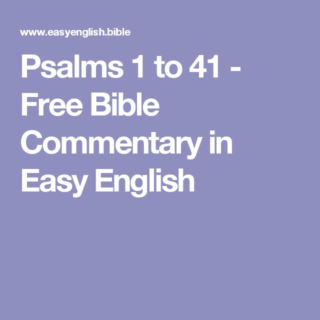 Psalms 1 to 41 - Free Bible Commentary in Easy English